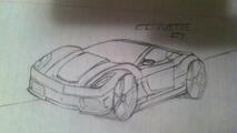Corvette C7 sketch