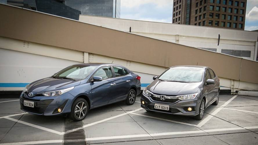 Comparativo Toyota Yaris Sedan x Honda City