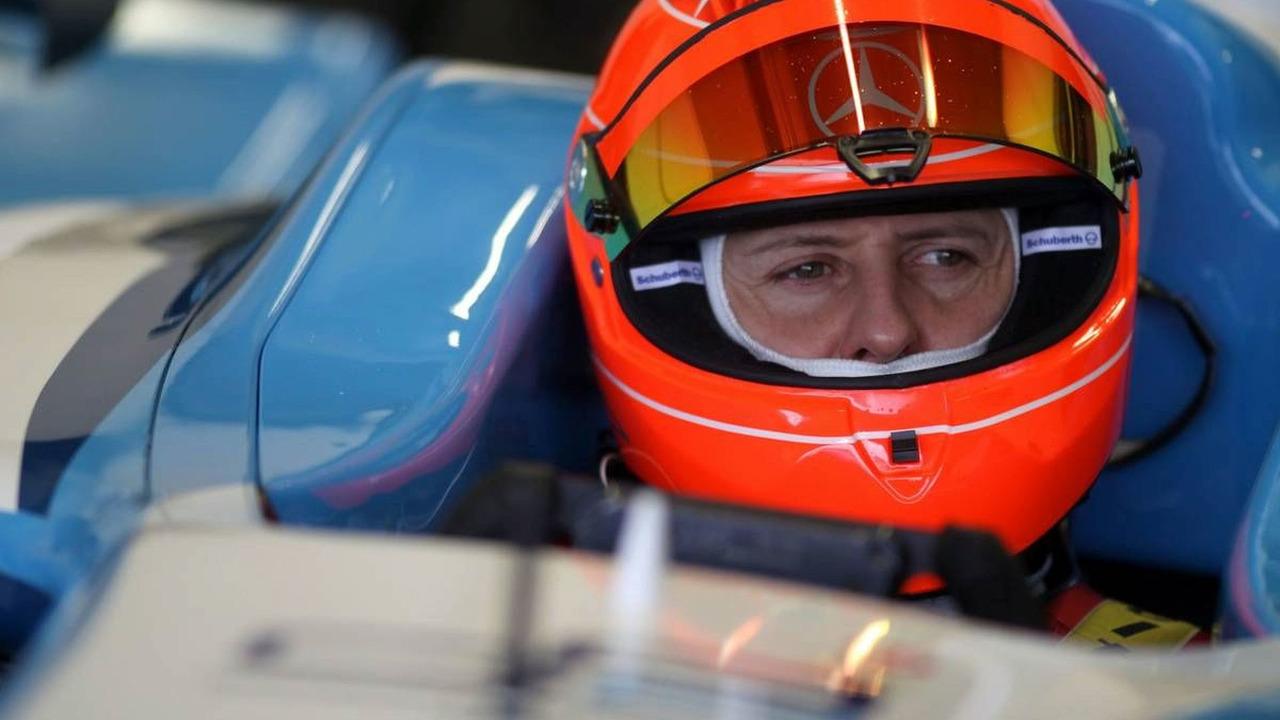Michael Schumacher testing GP2 Car