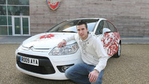 Citroën C4 Arsenal Fans Car & Robin Van Persie