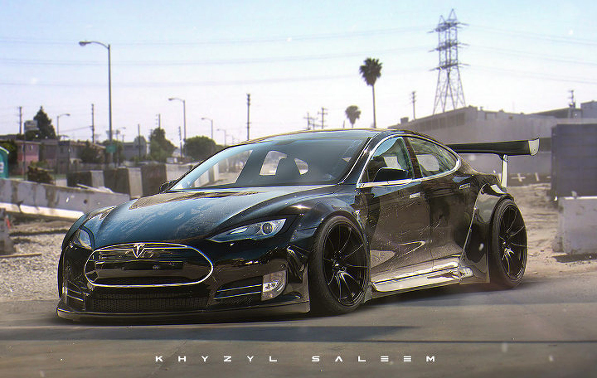 Tesla Model S Custom >> This Custom Tesla Model S Liberty Walk Needs To Happen Motor1 Com