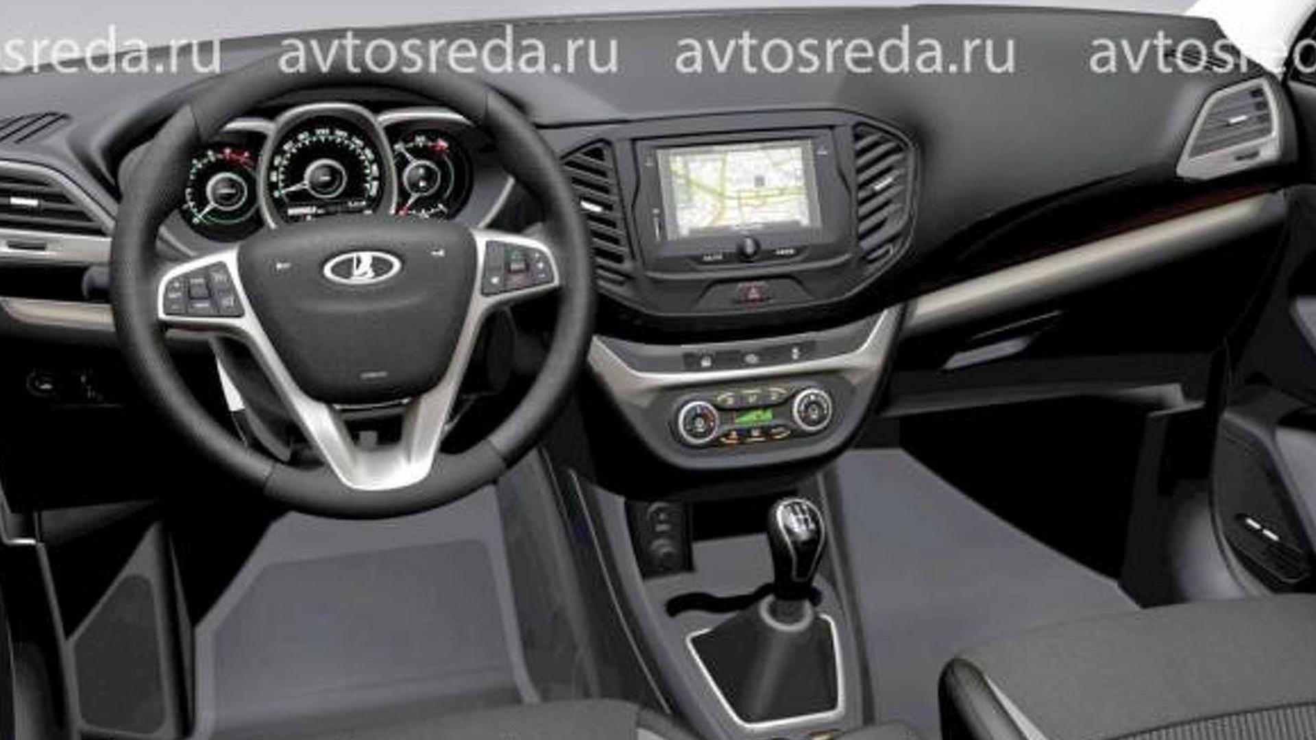 Lada vesta interior images galleries for Interieur lada niva
