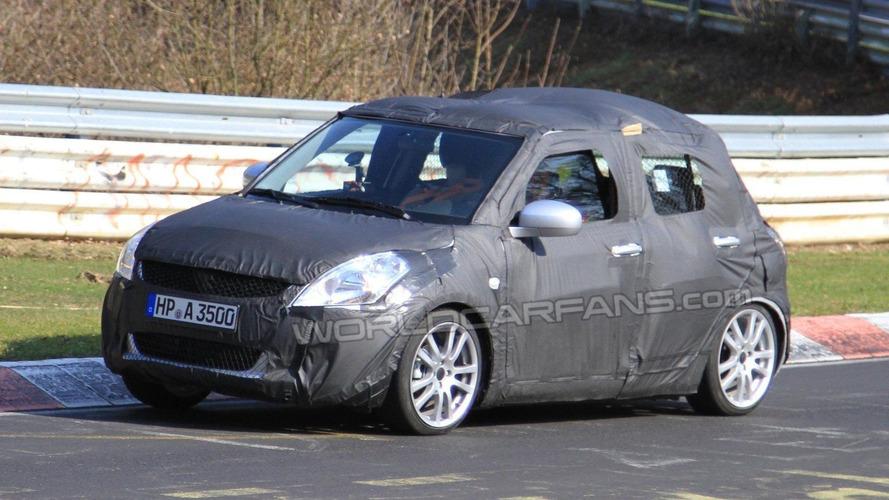 Pair of 2011 Suzuki Swift prototypes spied at Nurburgring
