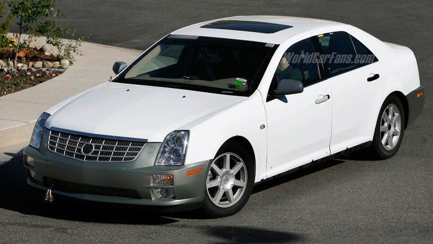 Cadillac STS Facelift Spy Photos