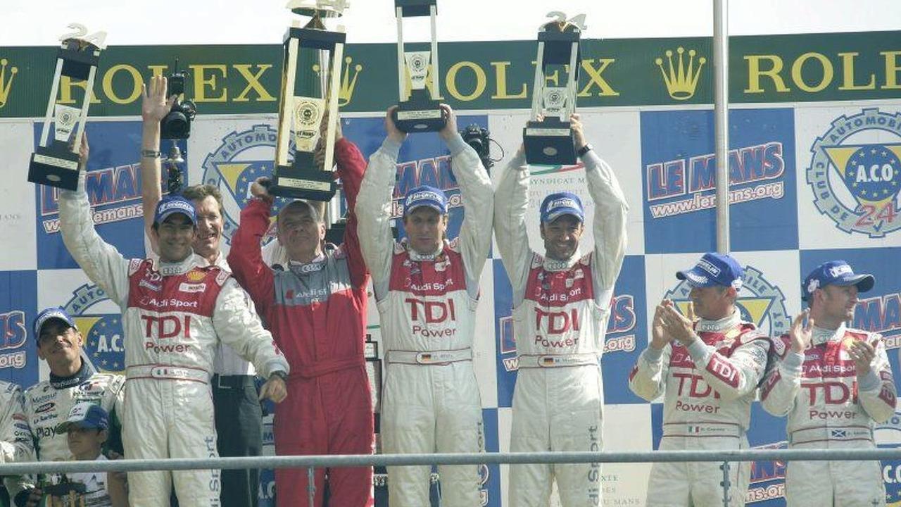 Audi team celebrating their victory