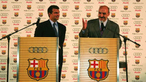 Car handing over FC Barcelona