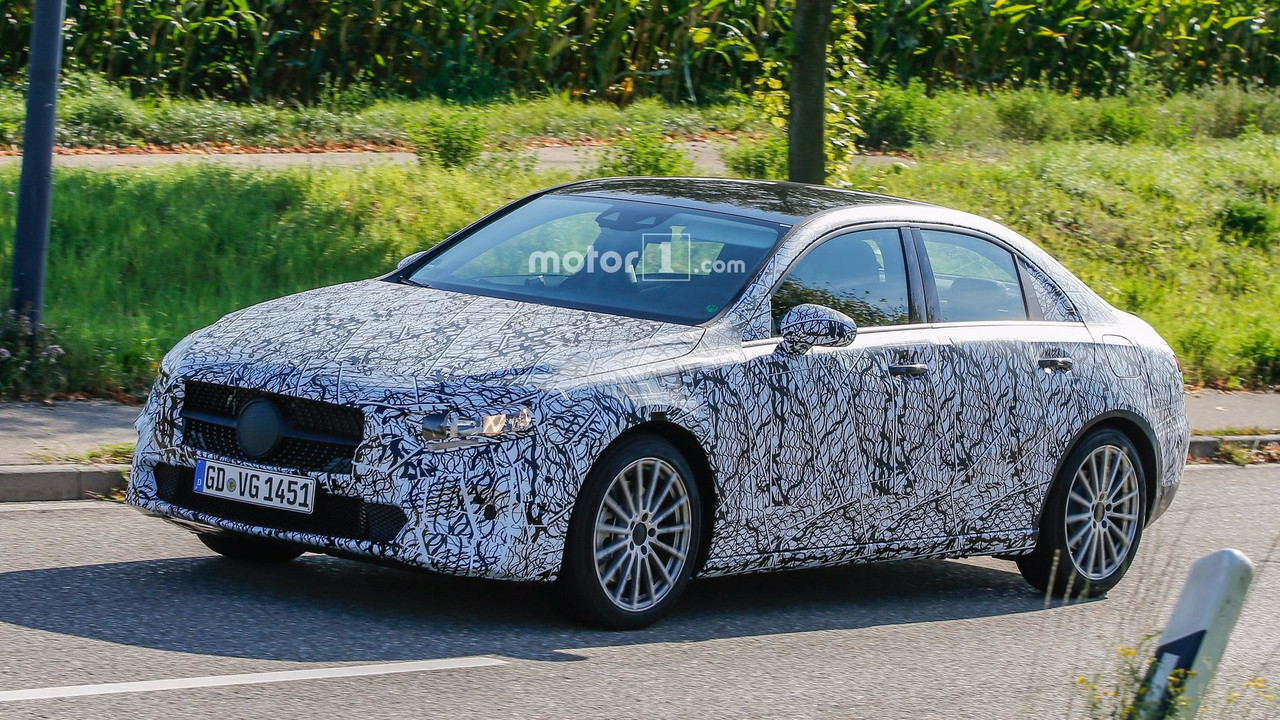 2019 mercedes a class sedan spied for the first time. Black Bedroom Furniture Sets. Home Design Ideas
