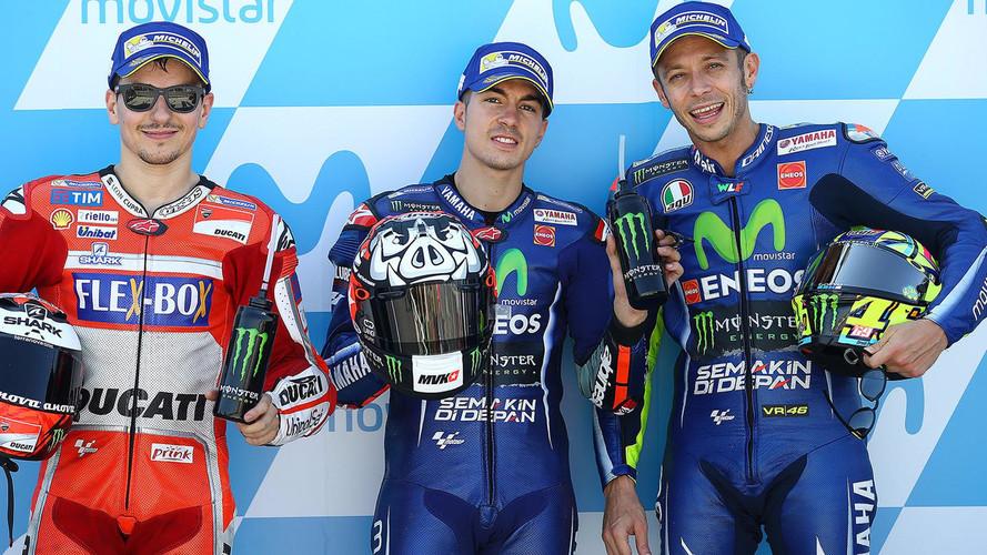 Pole de Viñales en el GP de Aragón de MotoGP y heroicidad de Rossi