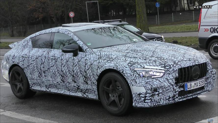 Mercedes-AMG GT Coupe Four-Door Spied On Public Streets
