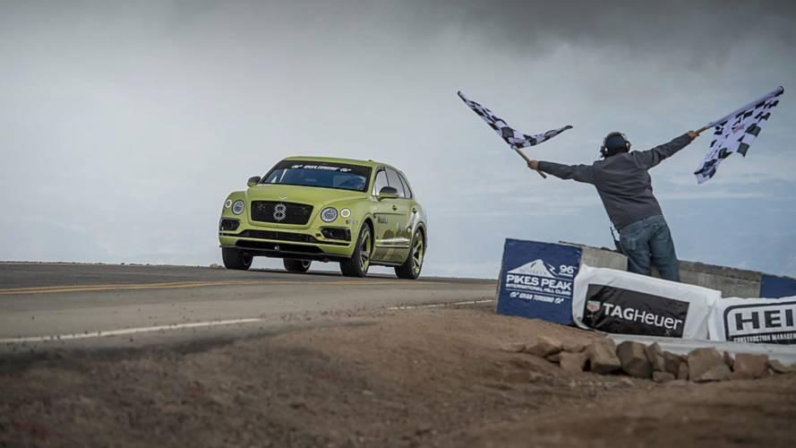 El Bentley Bentayga es el SUV más rápido en Pikes Peak