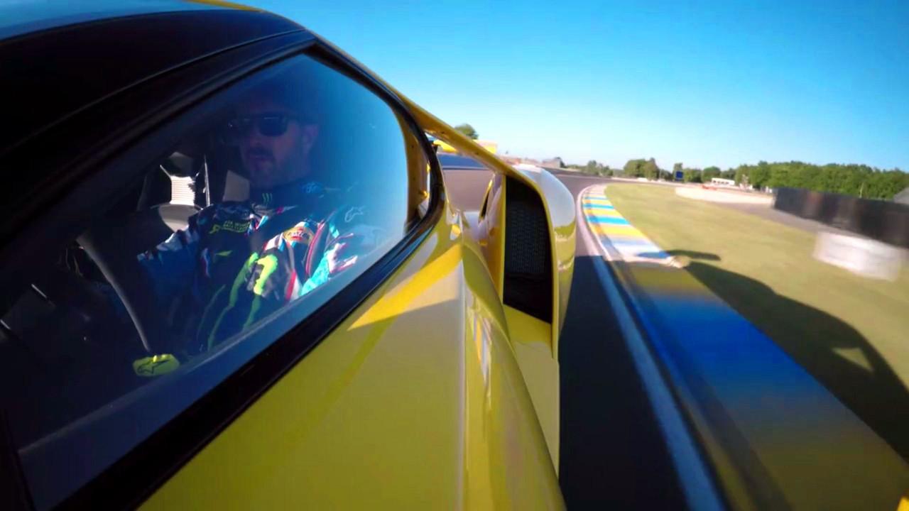 Ken Block con el Ford GT en Le Mans