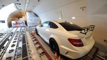 Mercedes C63 AMG Coupe Black Series arrives Sydney airport 03.03.2012