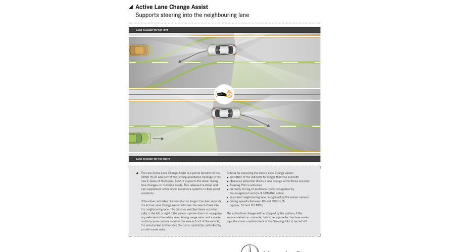 Mercedes E-Class to feature a new Active Lane Change Assist system