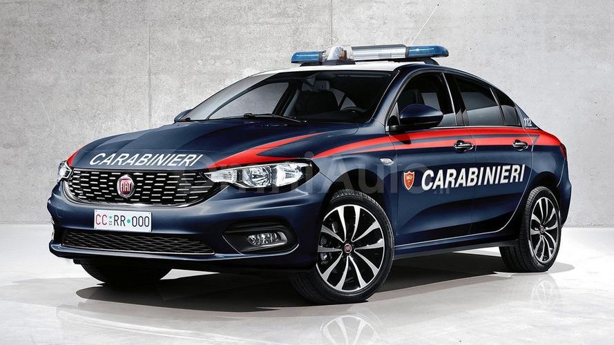 Fiat Tipo looking good in Carabinieri and Polizia liveries