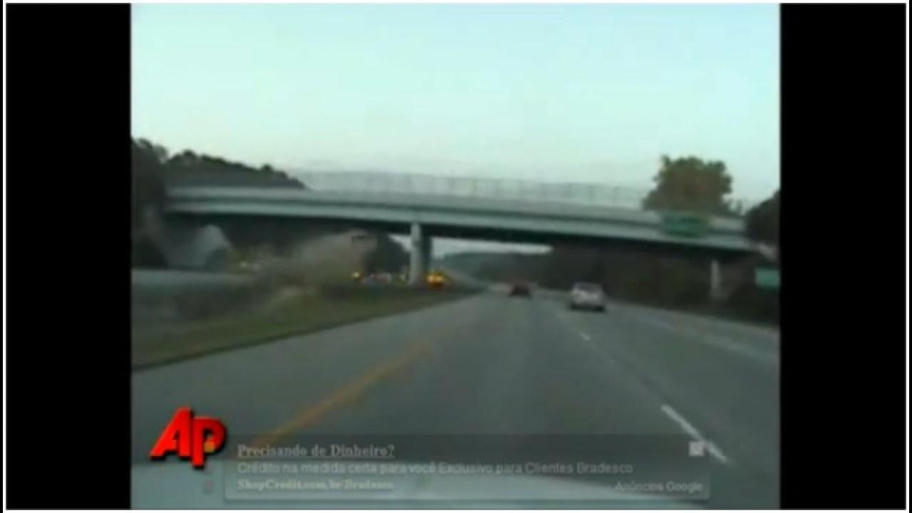 VÍDEO: Carro se desintegra no ar após colisão nos Estados Unidos