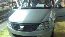 Facelifted Dacia Logan spy photos