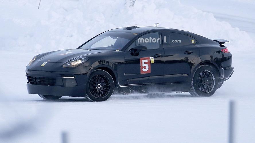 Porsche Mission E spied hiding inside Panamera body