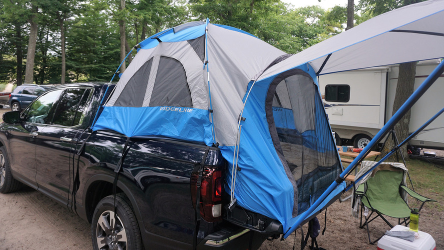 2017 Honda Ridgeline with tent accessory