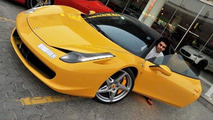 Dhiaa Al-Essa with his Ferrari 458 Italia before it was destroyed in a fire, 550, 07.09.2010
