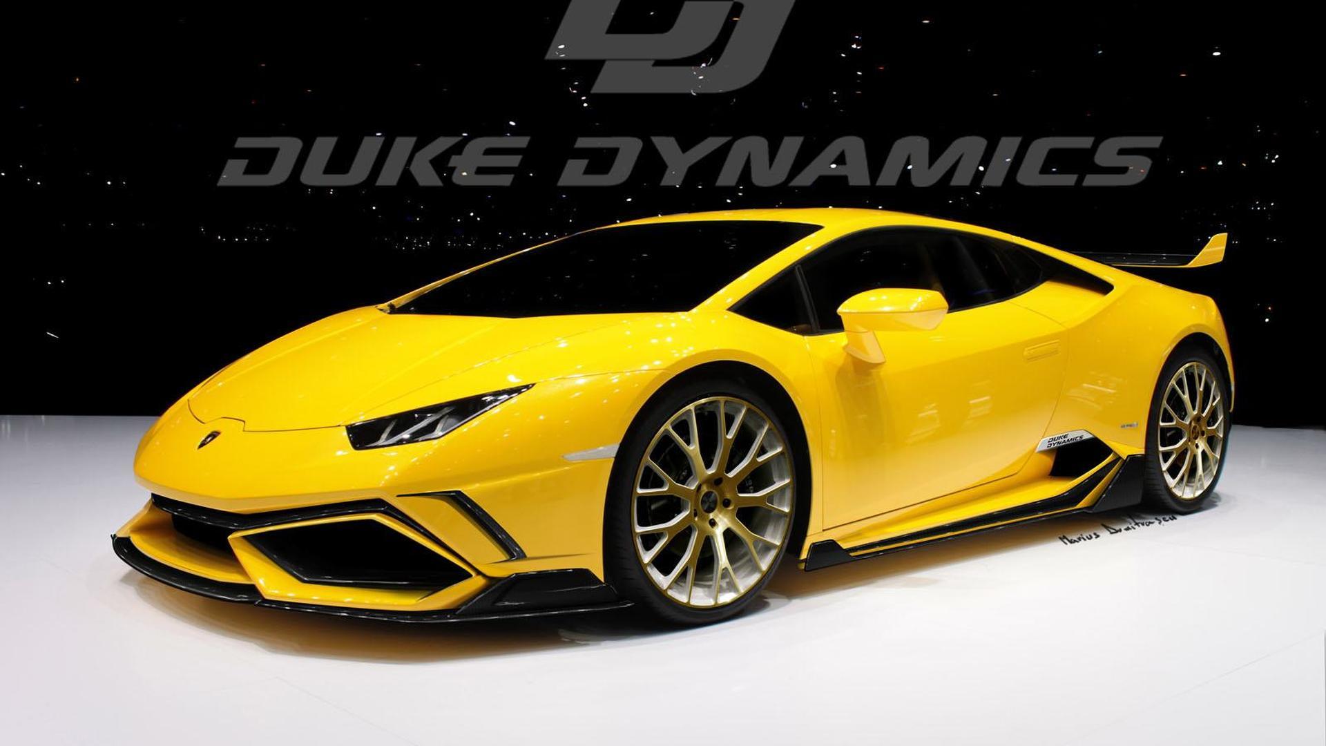 Жёлтый Lamborghini Huracan от Duke Dynamics