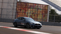 Sebastian Vettel drives Sochi GP circuit in an Infiniti Q50