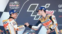 Podium: Ganador, Dani Pedrosa, Repsol Honda Team, segundo, Marc Márquez, Repsol Honda Team