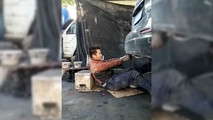 Mechanic Gets Face Full Of Soot