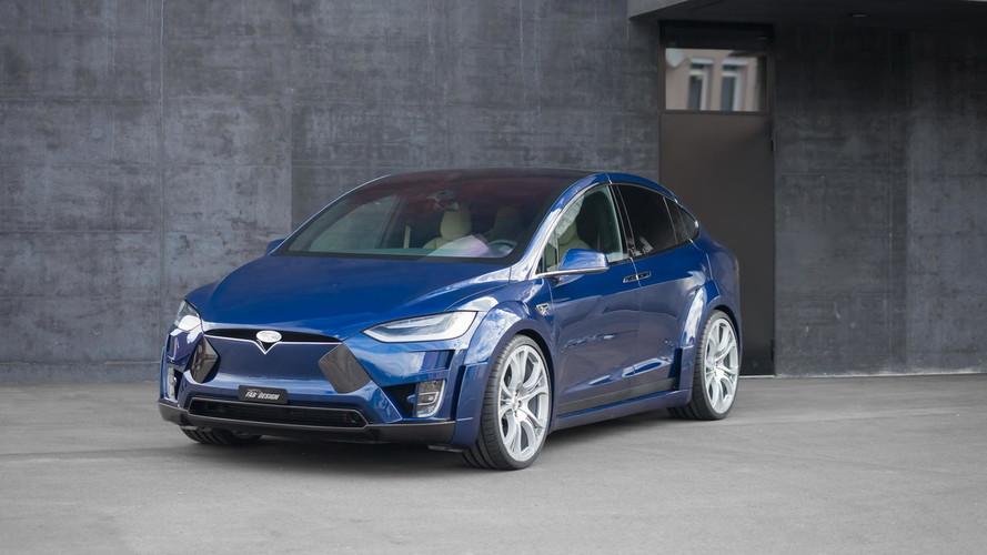 Widebody Tesla Model X Debuts Via FAB Design