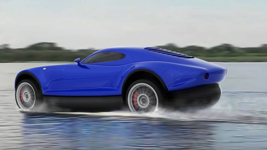 Russian sports car can hover on water when you run out of road
