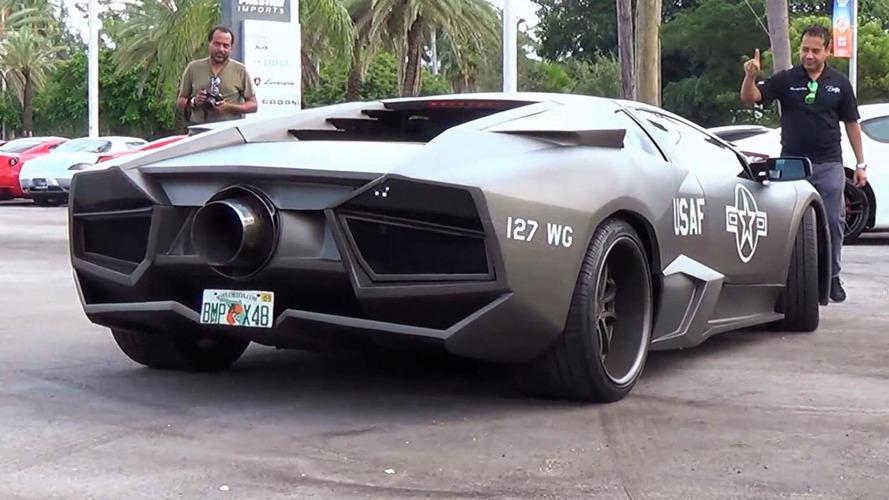 Lamborghini Murcielago gets Reventon body kit and Top Gun theme [video]