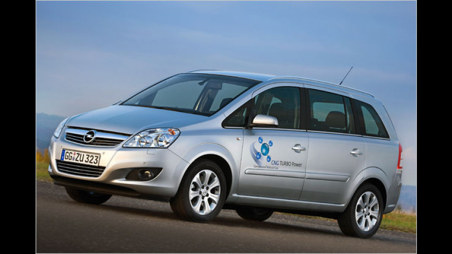 Opel zeigt ersten Erdgas-Serien-Van mit Turboaufladung