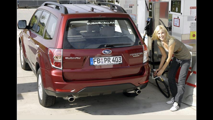 Günstiger Gas geben mit Subaru