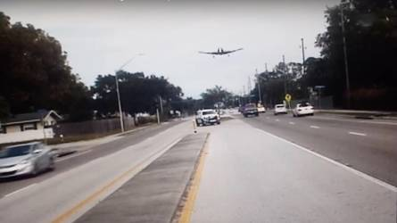 Watch the moment sheriff catches Florida plane crash on dashcam