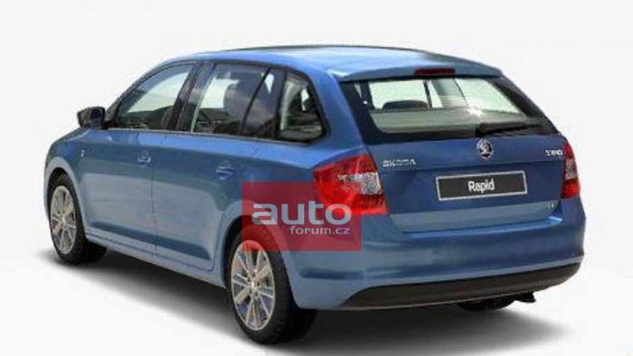 2014 Skoda Rapid Spaceback leaks out early?