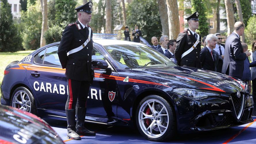Alfa Romeo Giulia Quadrifoglio enters service with the Carabinieri