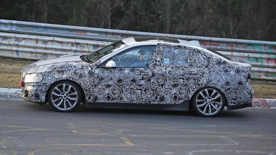 BMW 1-Series Sedan spied testing on the Nurburgring; will have standard FWD