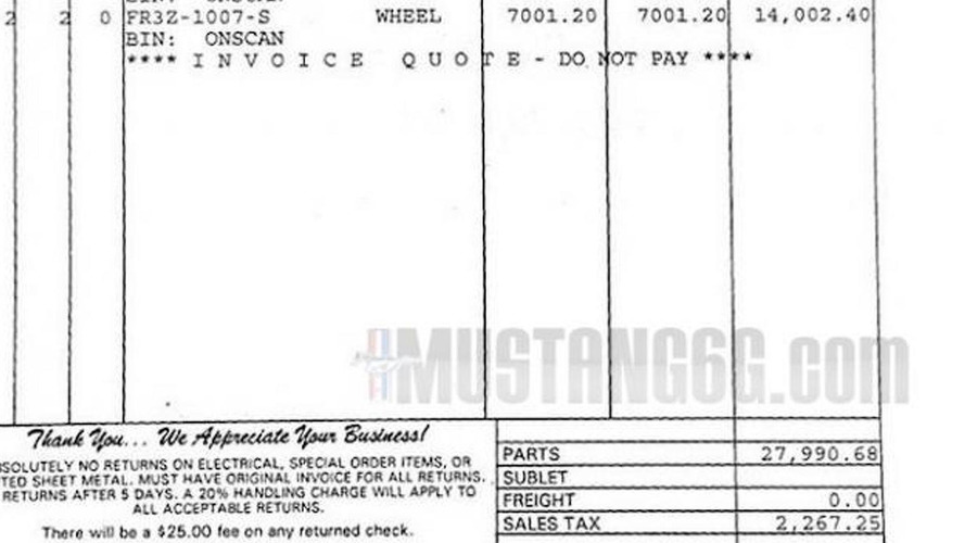 Shelby GTR Mustang Carbon Fiber Wheels Costs About - Mustang invoice price