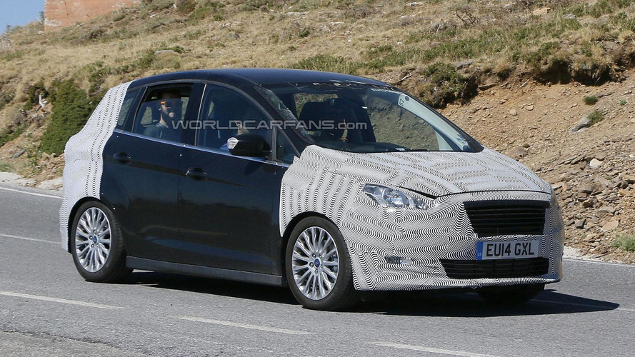 2015 ford c max spied with a trapezoidal grille. Black Bedroom Furniture Sets. Home Design Ideas