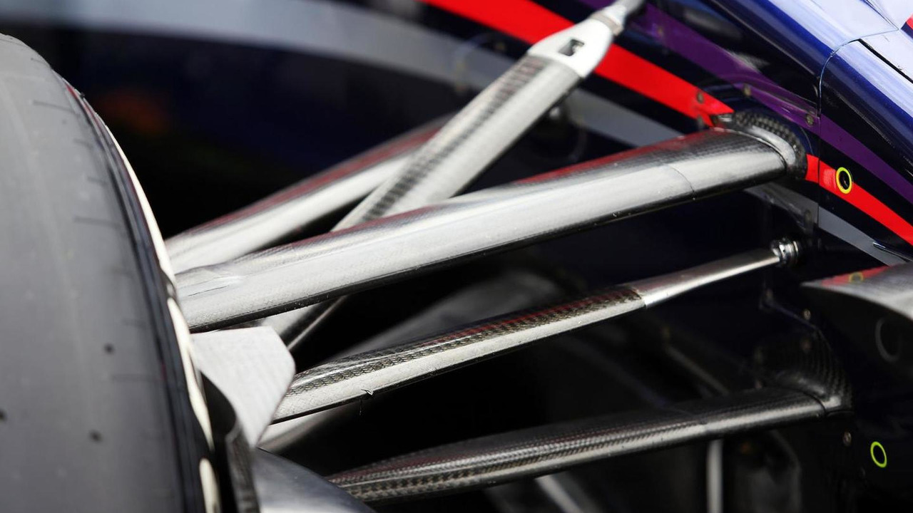 Daniel Ricciardo (AUS) front suspension detail / XPB