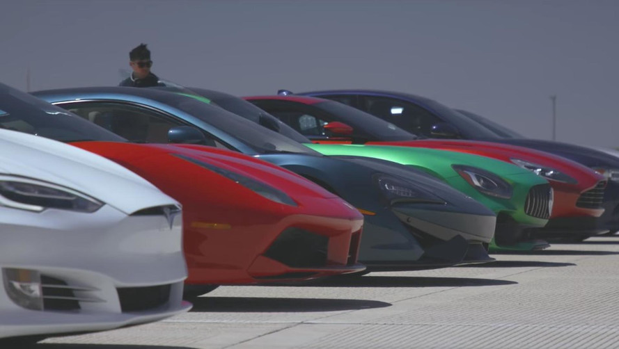 Watch A Sedan Embarrass Supercars In World's Greatest Drag Race