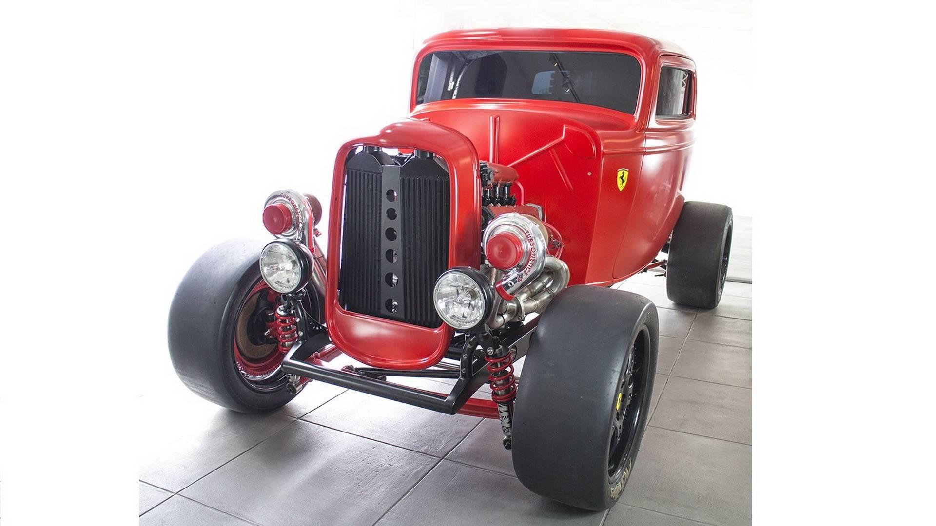 1932 Ford With 950-HP Biturbo Ferrari Engine Is Retro Crazy
