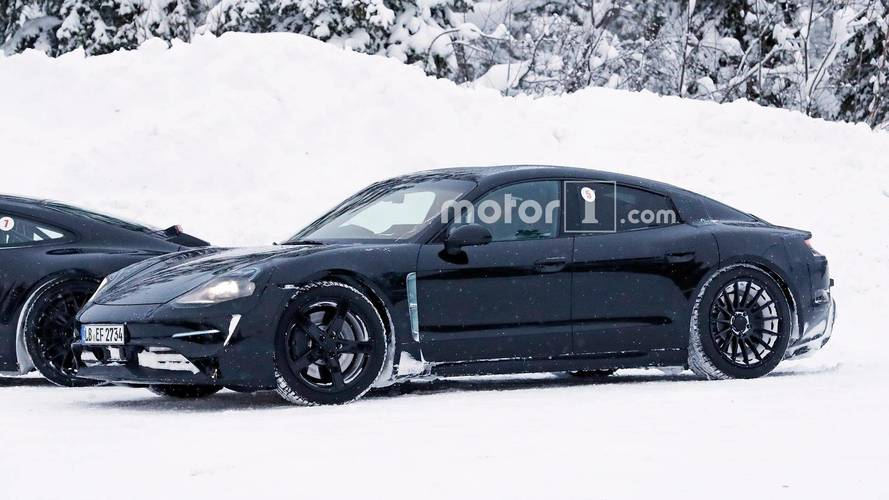 Porsche Spied Testing Mission E And 911 On Snowy Road [UPDATE]