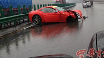 Ferrari 458 Spider and California crash