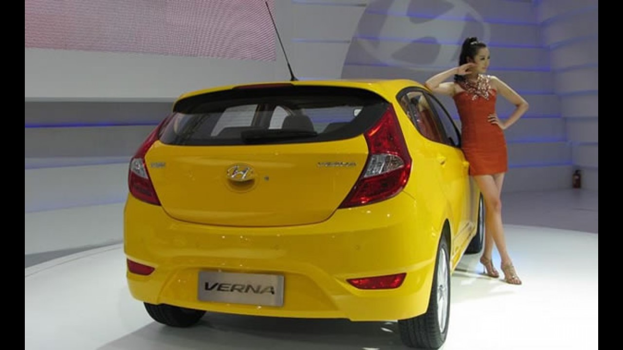 Hyundai Accent hatch é apresentado na China