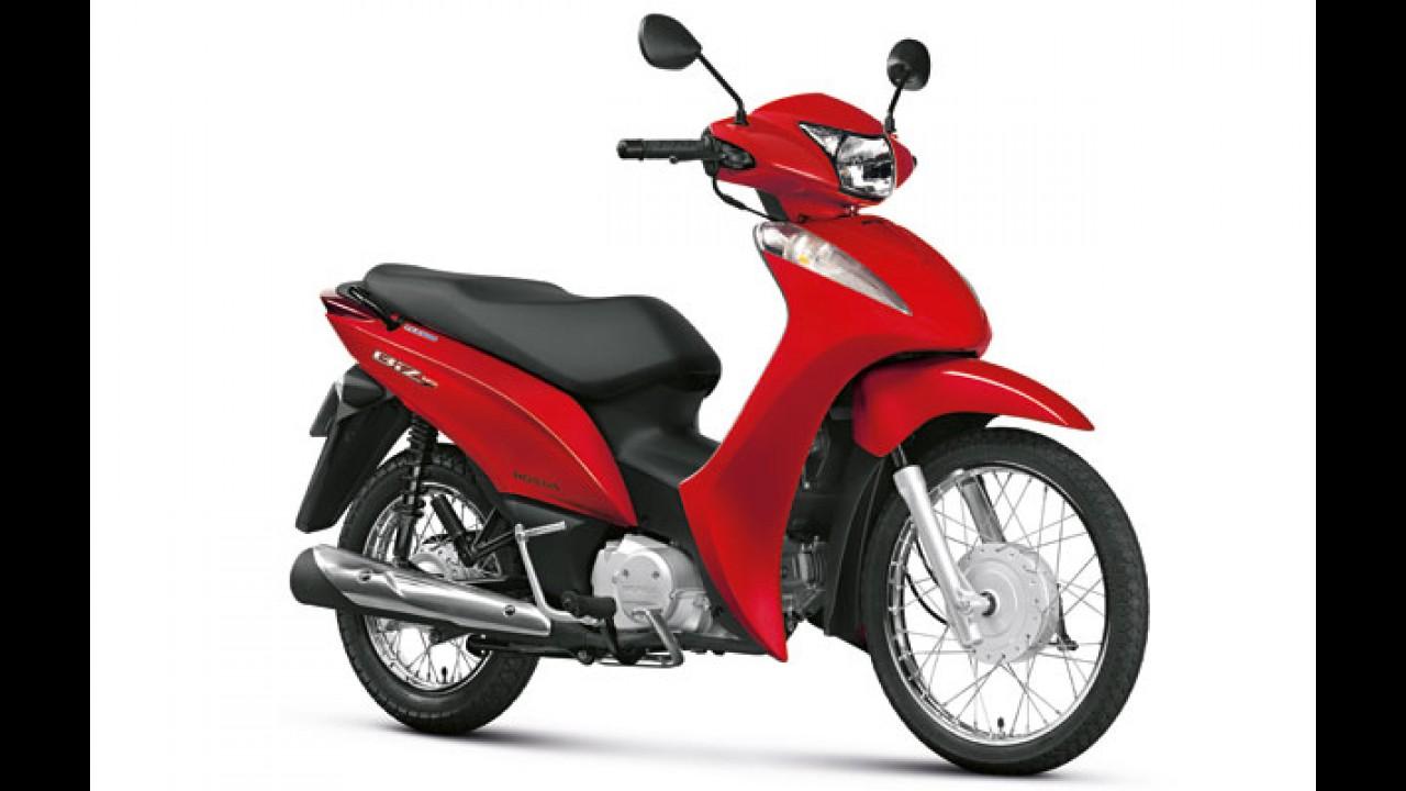 Honda CG 150 Fan ESDi e Biz 125 ES versão 2015 ganham cor vermelha