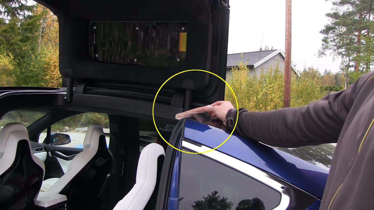 Tesla Model X door testing