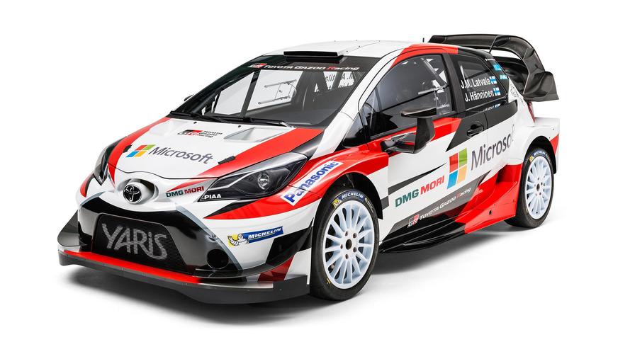 Toyota, Yaris WRC'yi taktığı arka kanadı tanıttı