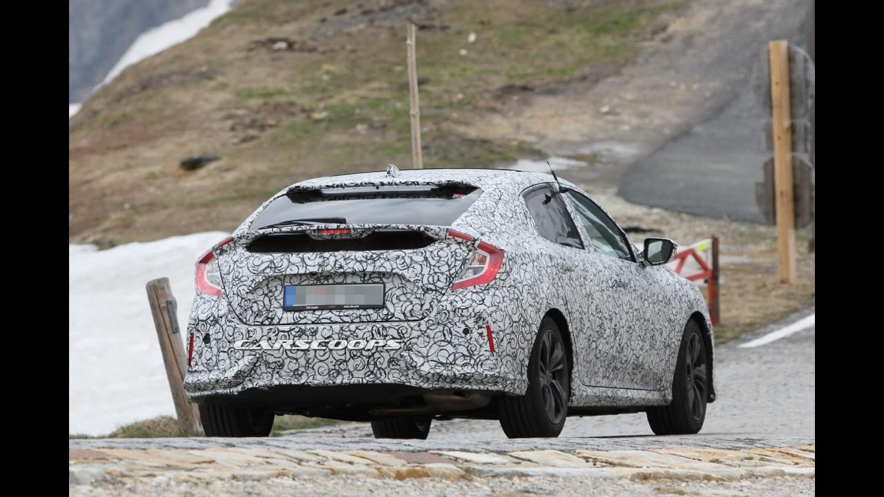 Flagra! Novo Honda Civic hatch manterá a ousadia do conceito