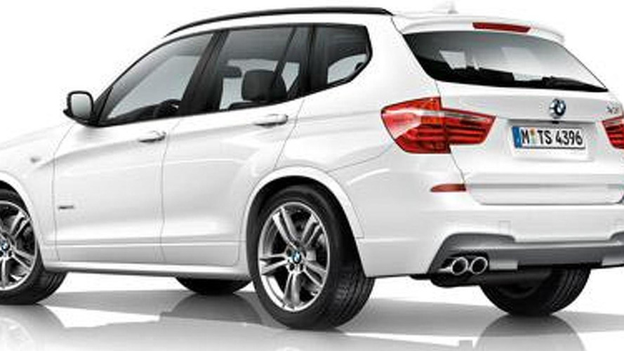 2011 BMW X3 with M-Sport package revealed
