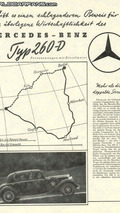 Advertising: Mercedes-Benz 260 D from 1936